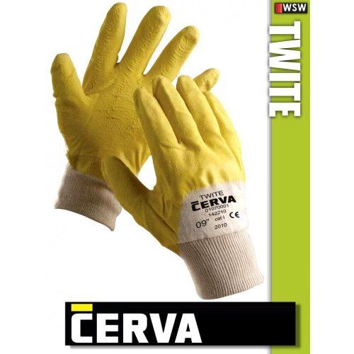 Cerva Twite kötött PVC-mártott munkakesztyű