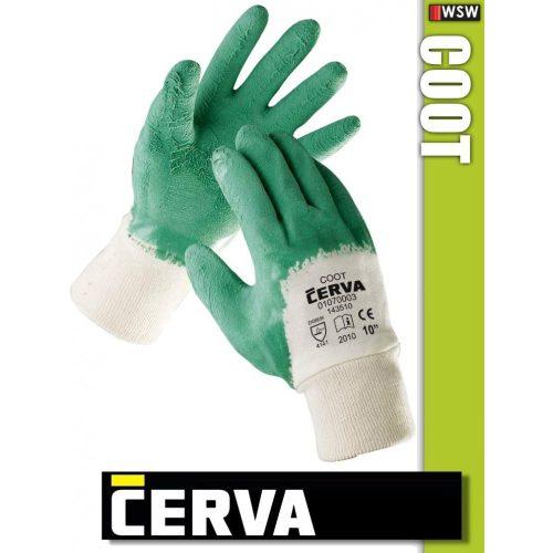 Cerva Coot kötött LATEX-mártott munkakesztyű
