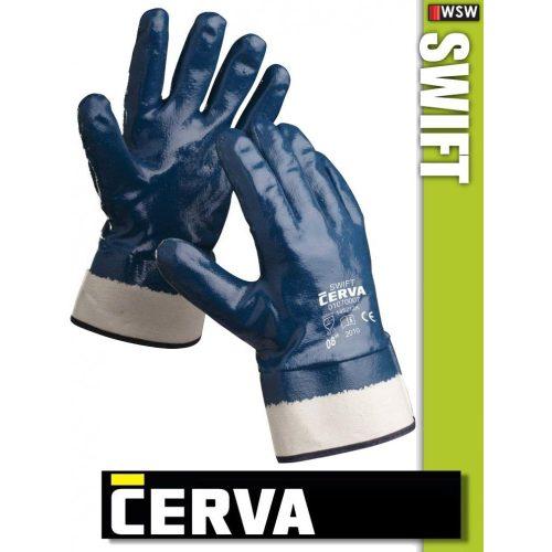 Cerva Swift kötött NITRIL-mártott munkakesztyű