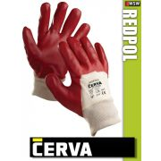Cerva Redpol varrott PVC-mártott munkakesztyű