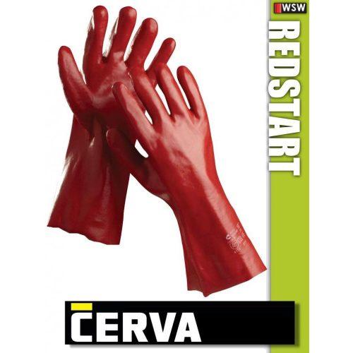 Cerva Restart varrott PVC-mártott munkakesztyű 45 cm