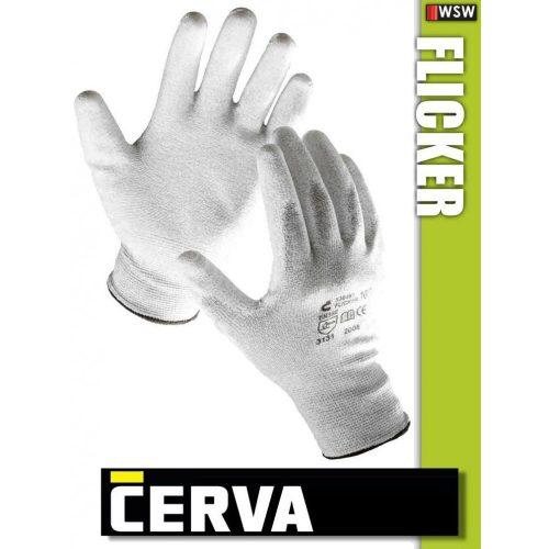 Cerva Flicker textil PU-mártott munkakesztyű