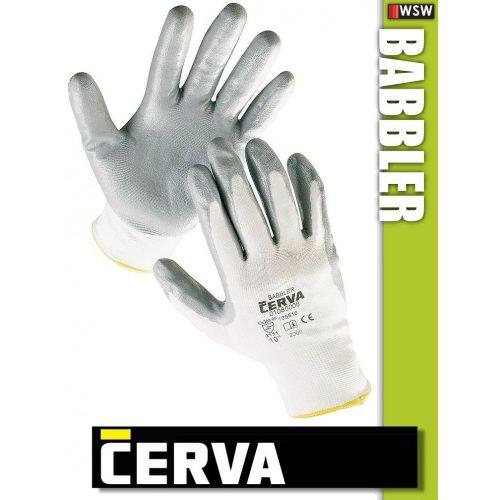 Cerva Babbler textil nitrilmártott munkakesztyű