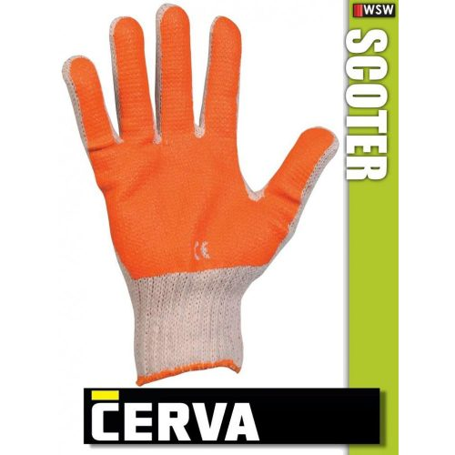 Cerva Scoter kötött PVC-mártott munkakesztyű
