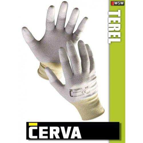 Cerva Terel textil PU-mártott munkakesztyű