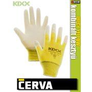 Cerva Kixx JUICY YELLOW textil nitrilmártott kesztyű - munkakesztyű