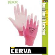 Cerva Kixx PRETTY PINK textil nitrilmártott kesztyű - munkakesztyű