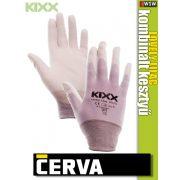 Cerva Kixx LOVELY LILAC textil nitrilmártott kesztyű - munkakesztyű