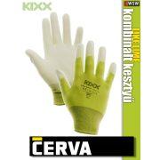 Cerva Kixx LIKE LIME textil nitrilmártott kesztyű - munkakesztyű