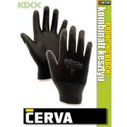 Cerva Kixx BOUNCING BLACK textil nitrilmártott kesztyű - munkakesztyű