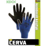 Cerva Kixx BEASTY BLUE textil kötötött latex kesztyű - munkakesztyű