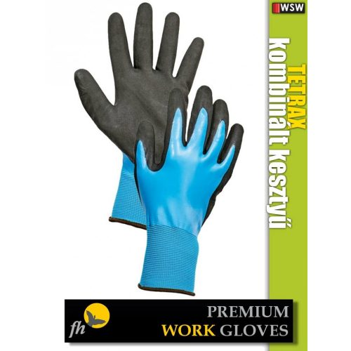 FH TETRAX textil PU-mártott munkakesztyű