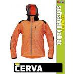 Cerva KNOXFIELD ORANGE HI-VIS printed softshell kabát - munkaruha