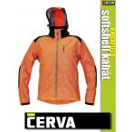 Cerva KNOXFIELD ORANGE HI-VIS printed softshell kabát - munkaruha