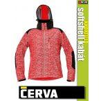 Cerva KNOXFIELD RED HI-VIS printed softshell kabát - munkaruha