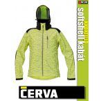 Cerva KNOXFIELD YELLOW HI-VIS printed softshell kabát - munkaruha