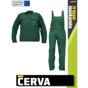 Fridrich GREEN RALF munkaruha öltöny (kabát és kantáros nadrág) - munkaruha