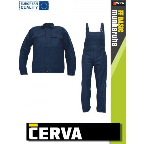 Fridrich NAVY RALF munkaruha öltöny (kabát és kantáros nadrág) - munkaruha