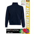 Fruit of the Loom ZIP NECK férfi pulóver