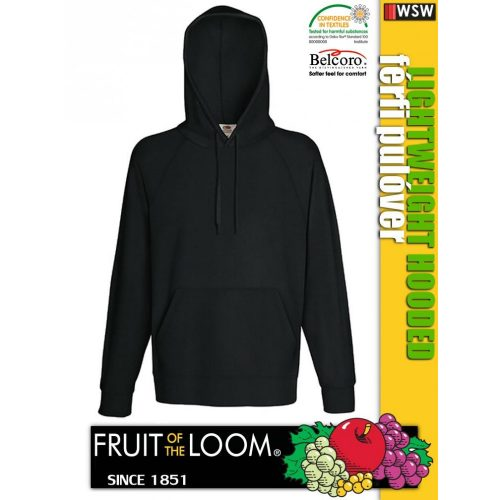 Fruit of the Loom LIGHTWEIGHT HOODED férfi pulóver - munkaruha
