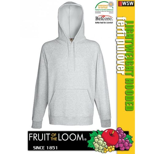 Fruit of the Loom LIGHTWEIGHT HOODED férfi pulóver - munkaruha