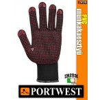 Portwest NYLON PVC pontozott védőkesztyű - munkakesztyű