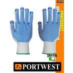 Portwest NYLON PVC kétoldalú pontozott védőkesztyű - munkakesztyű