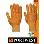Portwest NYLON PVC cikcakkos védőkesztyű - munkakesztyű