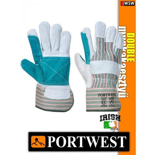 Portwest DOUBLE bőr védőkesztyű - munkakesztyű