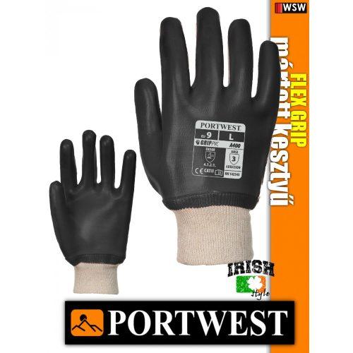 Portwest A400 PVC mártott védőkesztyű - munkakesztyű