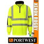 Portwest XENON RUGBY jól láthatósági galléros pulóver - munkaruha