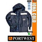 Portwest IONA NAVY COLD STORE bélelt kabát -40C-ig