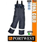 Portwest IONA NAVY COLD STORE kantáros nadrág -40C-ig