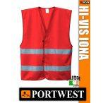Portwest IONA RED jólláthatósági mellény - munkaruha