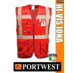 Portwest IONA RED jólláthatósági vezetői mellény - munkaruha