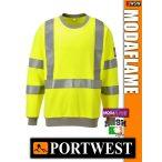 Portwest MODAFLAME Hi-Vis lángálló antisztatikus pulóver - munkaruha