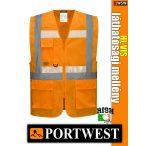 Portwest HI-VIS foszforeszkáló jólláthatósági vezetői mellény - munkaruha