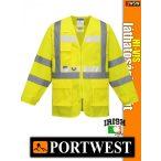 Portwest HI-VIS foszforeszkáló jólláthatósági kabát - munkaruha