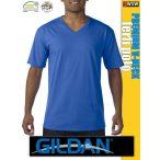 Gildan PREMIUM Cotton V-nyakú gyapjú férfi póló
