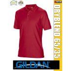Gildan DRYBLEND kevertszálas rövidujjú férfi galléros póló