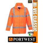 Portwest HI-VIS CLASSIC 90 cm jólláthatósági esőkabát - munkaruha