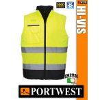 Portwest HI-VIS jólláthatósági bélelt mellény - munkaruha