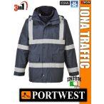 Portwest IONA NAVY TRAFFIC bélelt télikabát - 3in1