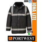 Portwest IONA BLACK LITE bélelt télikabát - munkaruha