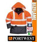 Portwest BIZFLAME Hi-Vis antisztatikus lángálló bélelt esőkabát - munkaruha