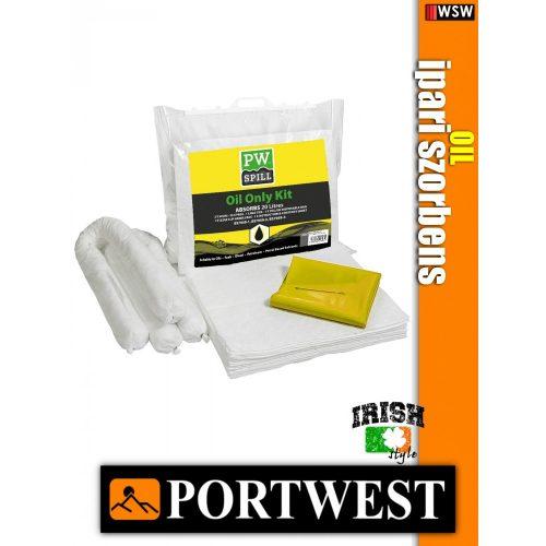 Portwest SM60 olaj szorbens készlet 20 liter - ipari szorbens - 6 db