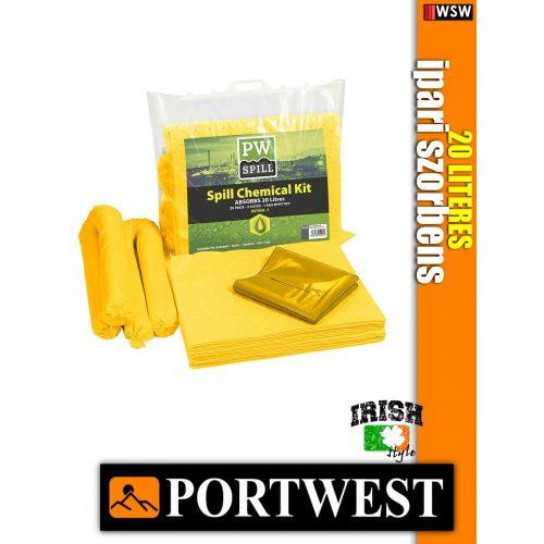 Portwest SM91 vegyi szorbens 6 darabos készlet 20 liter - ipari szorbensek 6 db