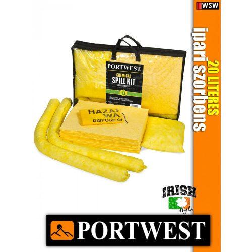 Portwest SM91 vegyi szorbens készlet 50 liter - ipari szorbensek 3 db