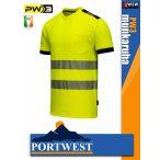 Portwest PW3 YELLOW jólláthatósági zsebes munkapóló - munkaruha