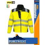 Portwest PW3 YELLOW jólláthatósági softshell munkakabát - munkaruha
